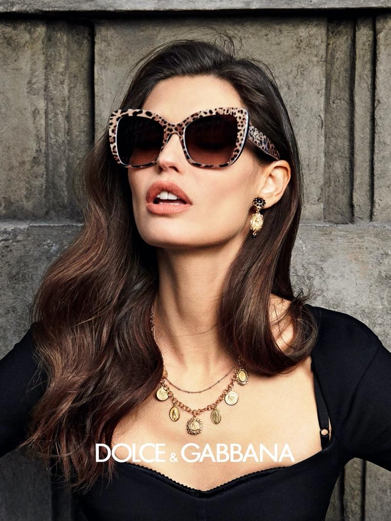 Bianca Balti stars in Dolce & Gabbana eyewear fall-winter 2020 campaign.