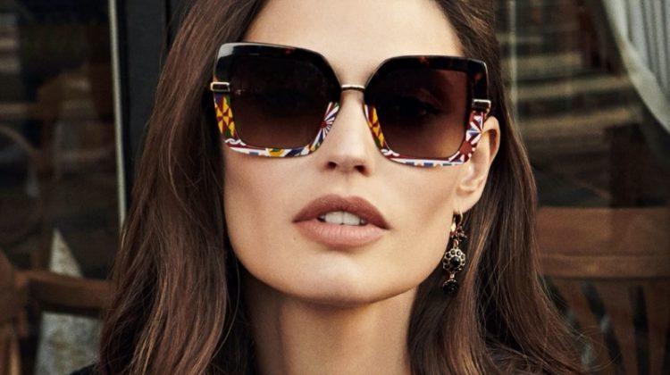Bianca Balti fronts Dolce & Gabbana eyewear fall-winter 2020 campaign.