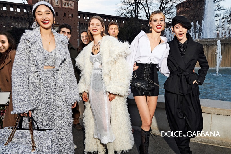 Models are all smiles in Dolce & Gabbana fall 2020 campaign.