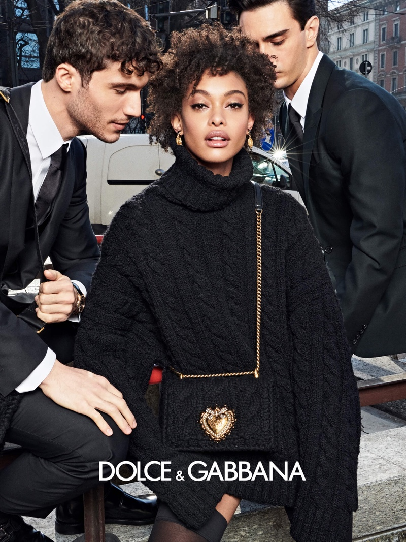 Chey Carty stars in Dolce & Gabbana fall 2020 campaign.