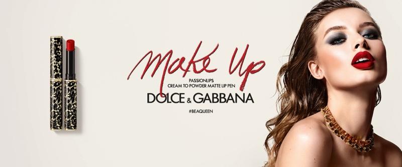 Giulia Maenza stars in Dolce & Gabbana Passionlips Lipstick campaign.