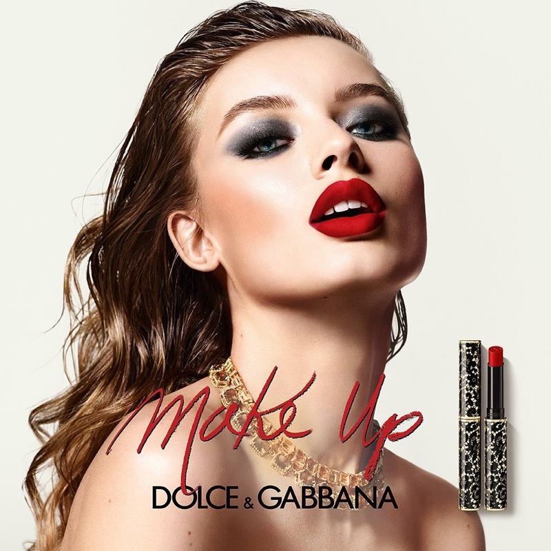 Dolce & Gabbana unveils Passionlips Lipstick campaign with Giulia Maenza.