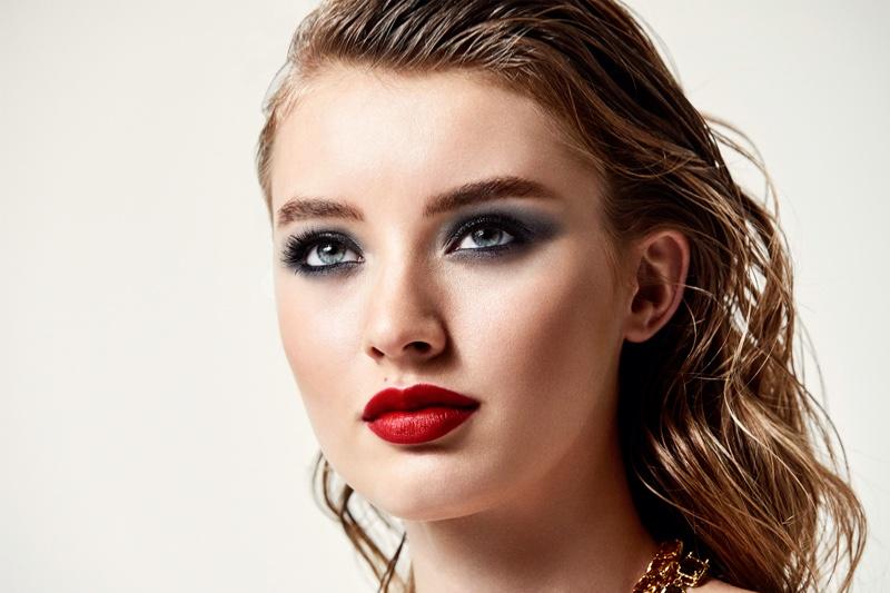 ON SET: Dolce & Gabbana Passionlips lipstick shoot with Giulia Maenza.