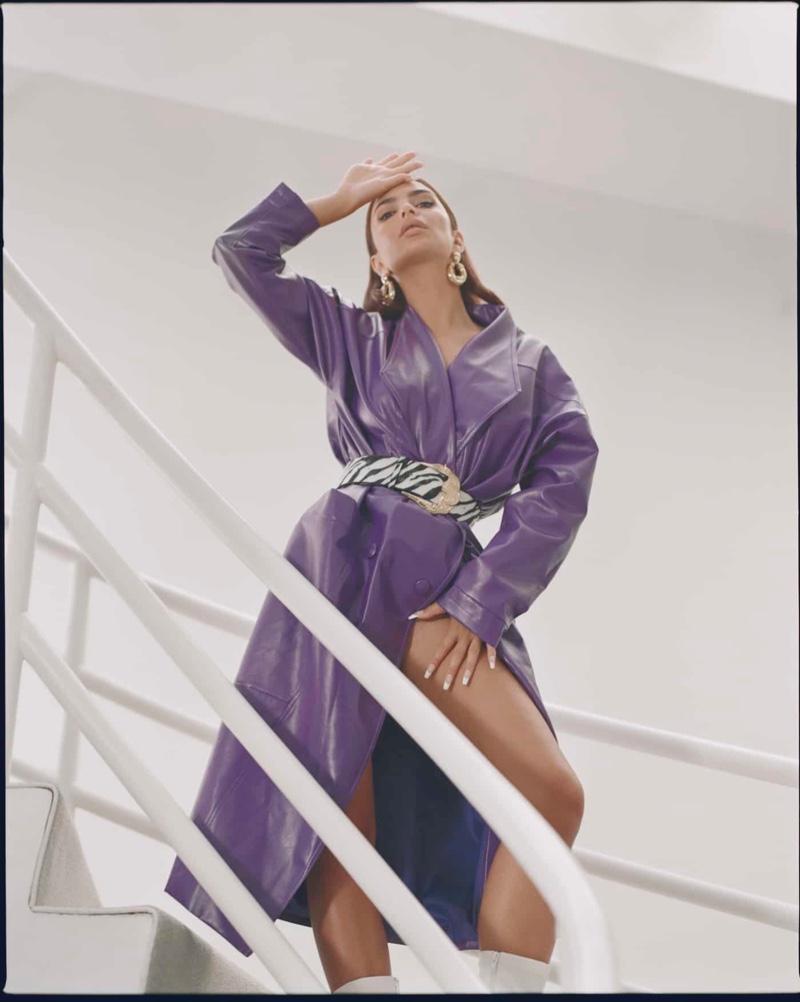 Emily Ratajkowski Channels 80s & 90s Glam for Nasty Gal