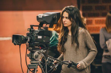 Female Video Film Camera Sweater Set