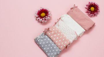 Folded Women's Underwear Flowers