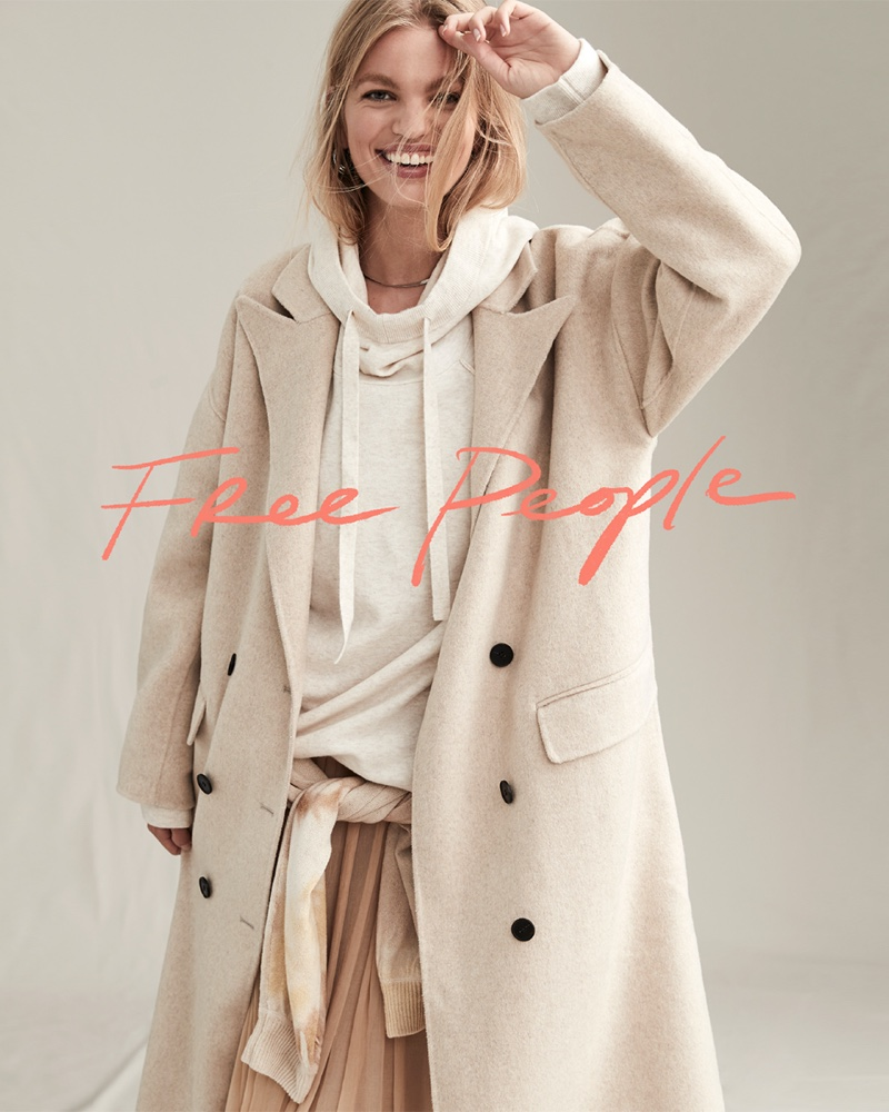 Daphne Groeneveld poses for Free People The Creative Spirit fall 2020 catalog.