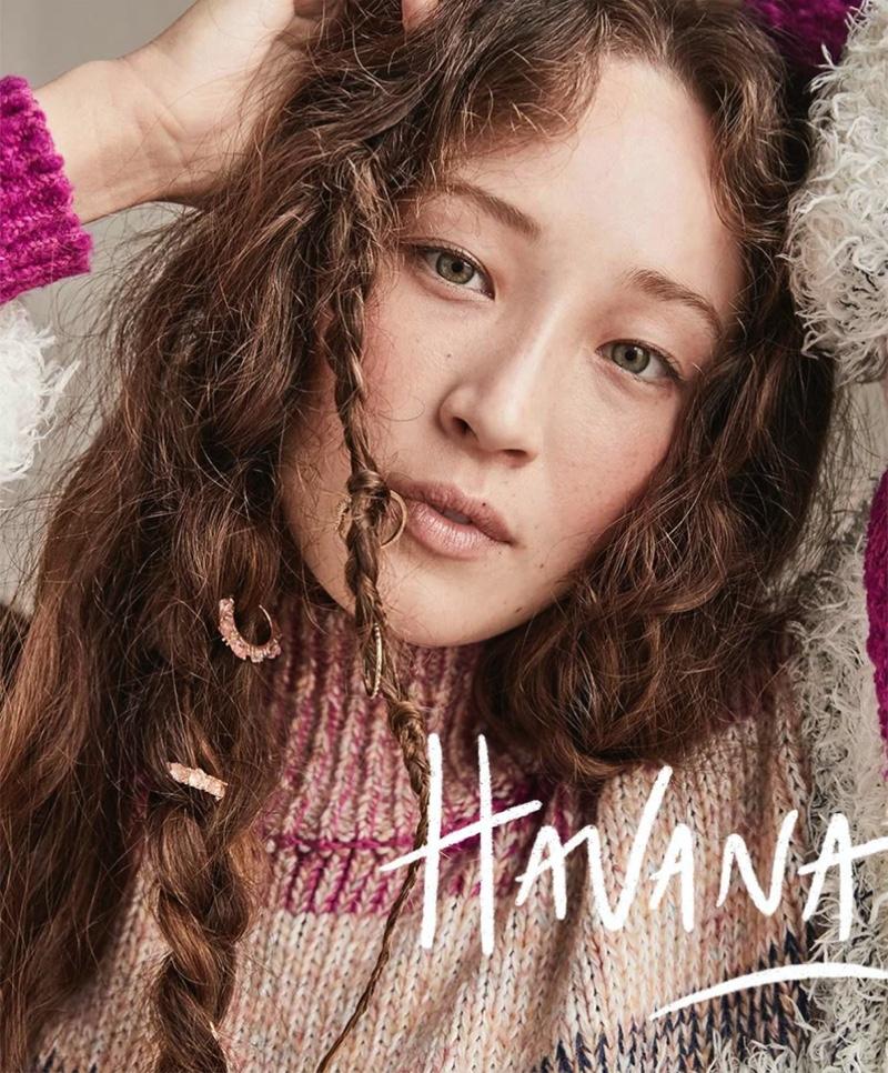 Havana Liu appears in Free People fall 2020 catalog.