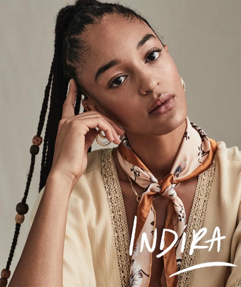 Indira Scott poses for Free People The Creative Spirit fall 2020 catalog.