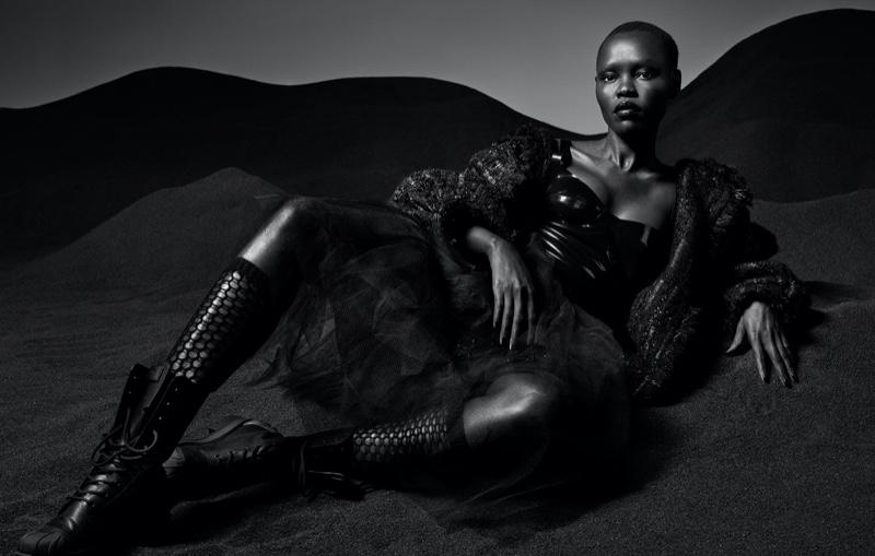 Grace Bol Models Fashion Forward Looks for Slimi Magazine