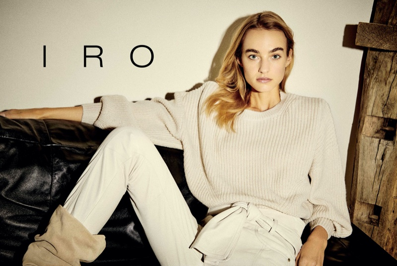 Maartje Verhoef stars in IRO fall-winter 2020 campaign.