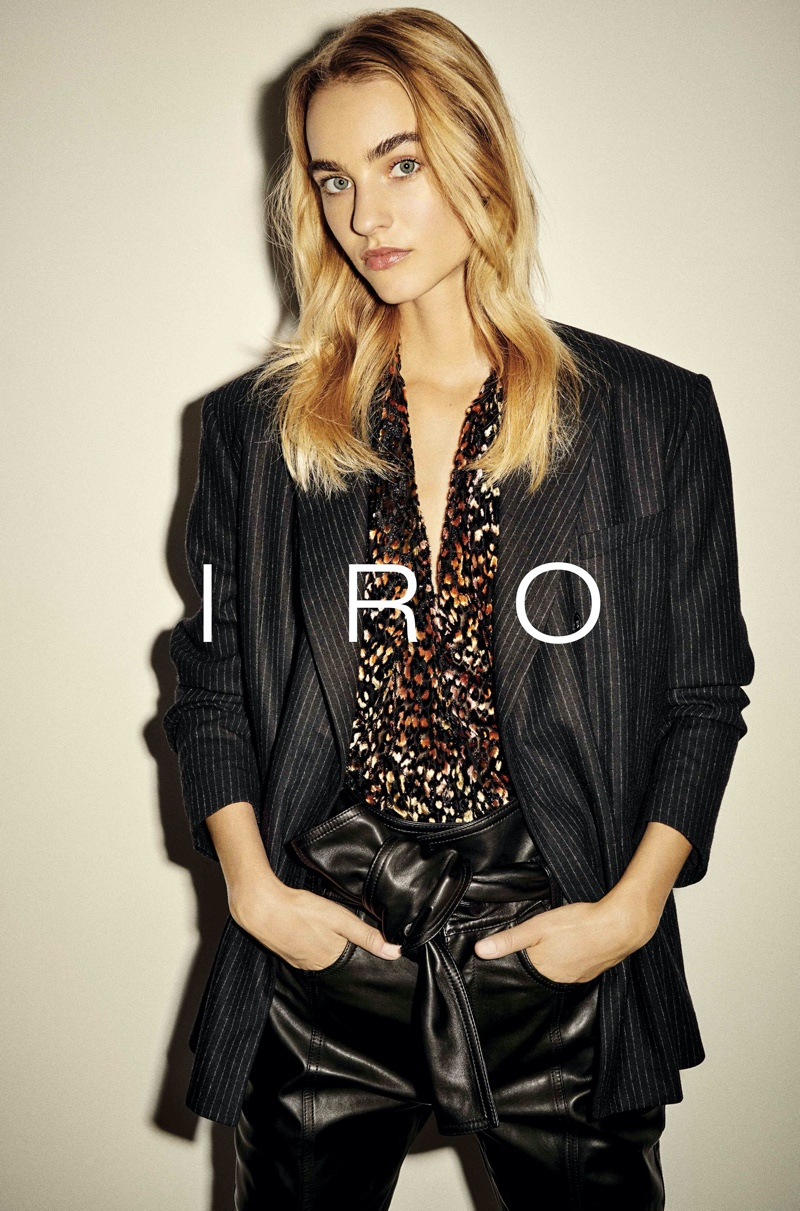 Maartje Verhoef is the face of IRO's fall-winter 2020 campaign.
