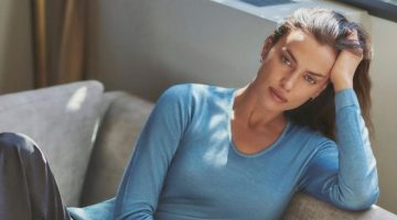 Irina Shayk stars in Falconeri Ultralight Cashmere campaign.