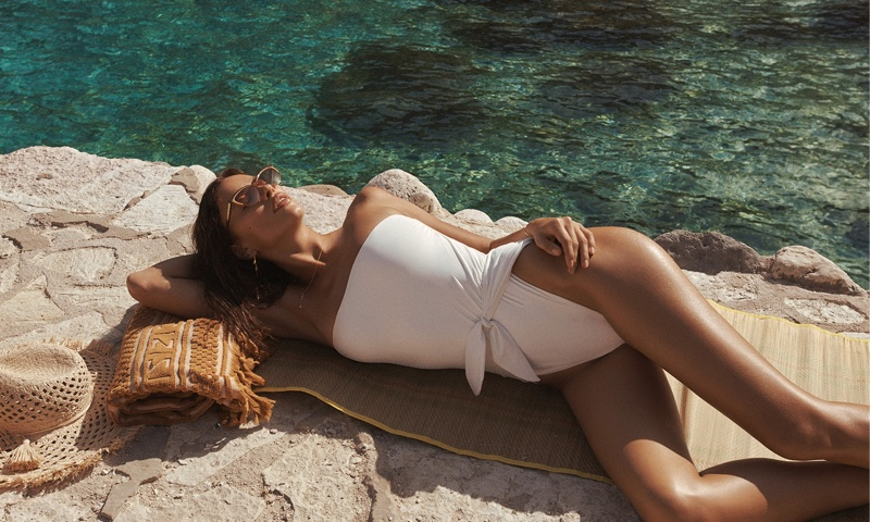 Irina Shayk fronts Zimmermann resort swim 2021 campaign.