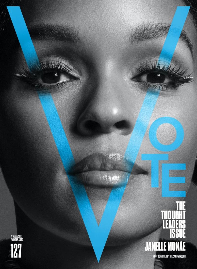 Janelle Monae on V Magazine #127 Cover. Photo: Inez & Vinoodh