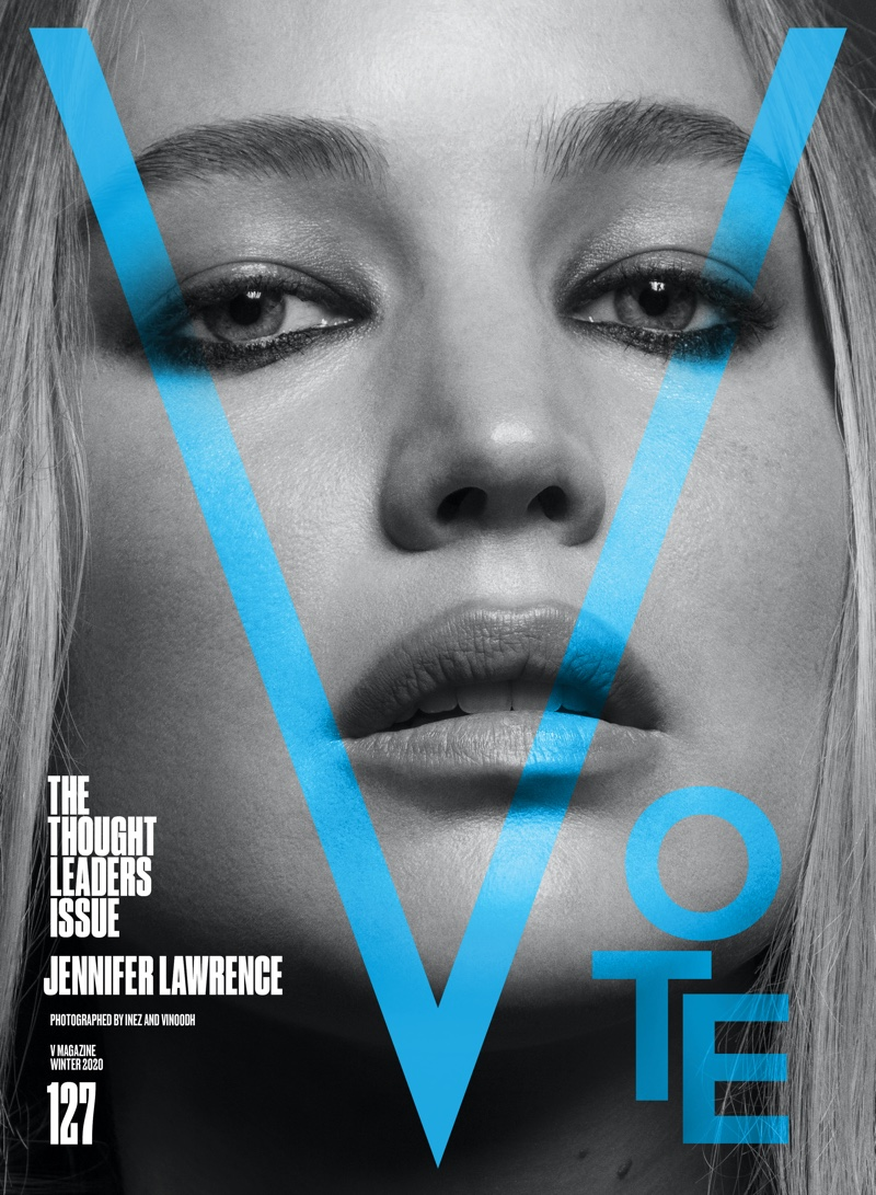 Jennifer Lawrence on V Magazine #127 Cover. Photo: Inez & Vinoodh