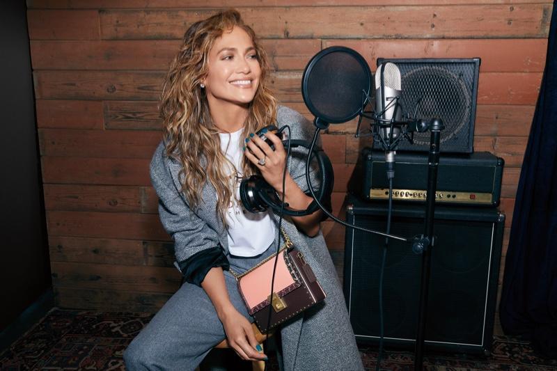 Jennifer Lopez stars in Coach x Jennifer Lopez Hutton bag campaign.