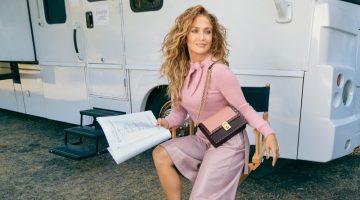 Jennifer Lopez fronts Coach x Jennifer Lopez Hutton bag campaign.