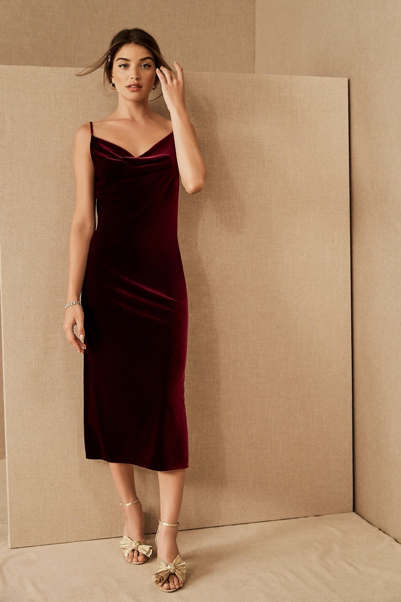 Jenny Yoo Bentley Velvet Dress $198