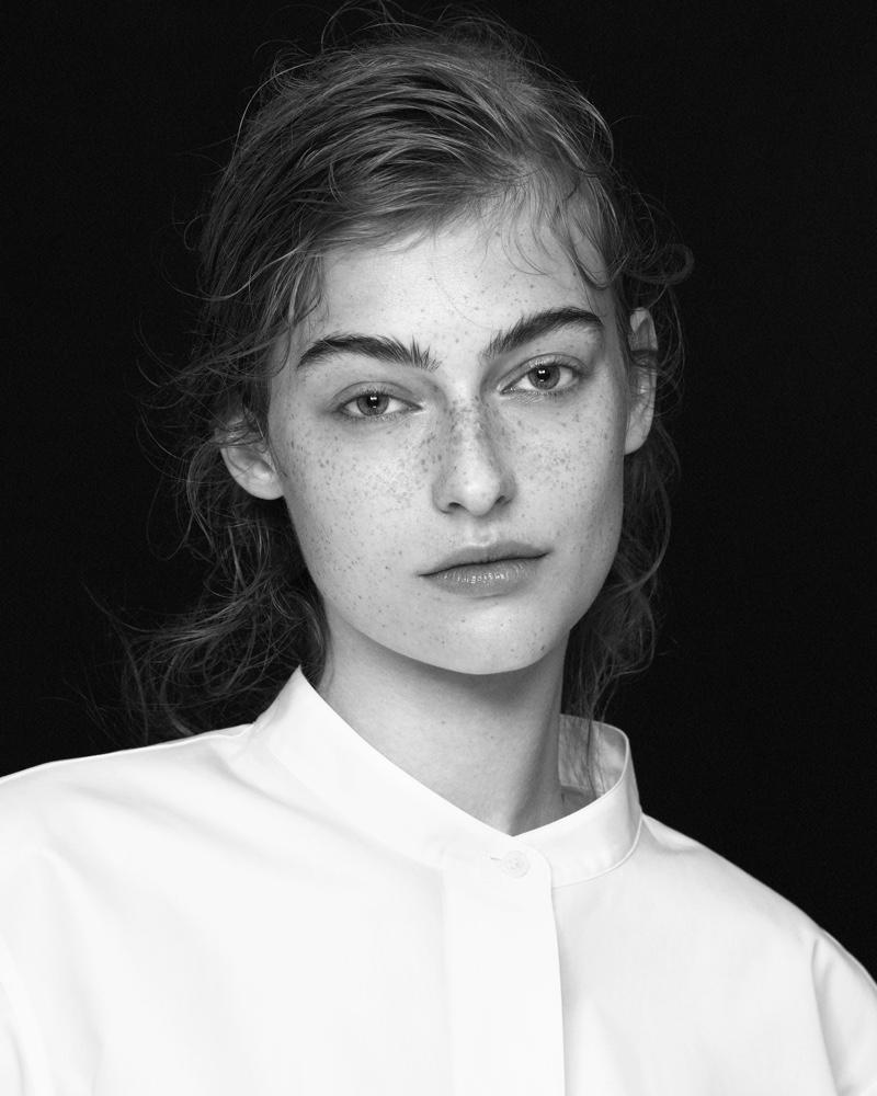 Uniqlo +J fall-winter 2020 portrait featuring Berit Heitmann.
