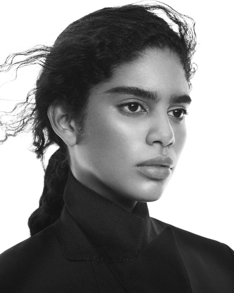 Allana Santos Brito gets her closeup in Uniqlo +J fall-winter 2020 campaign.
