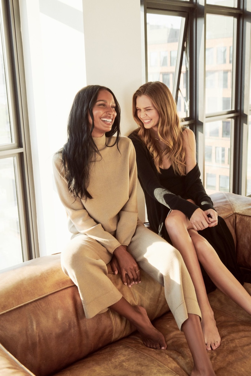 Jasmine Tookes and Josephine Skriver stars in Dynamite fall 2020 campaign.