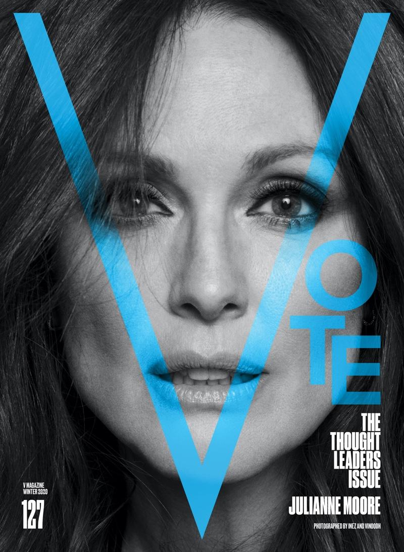 Julianne Moore on V Magazine #127 Cover. Photo: Inez & Vinoodh