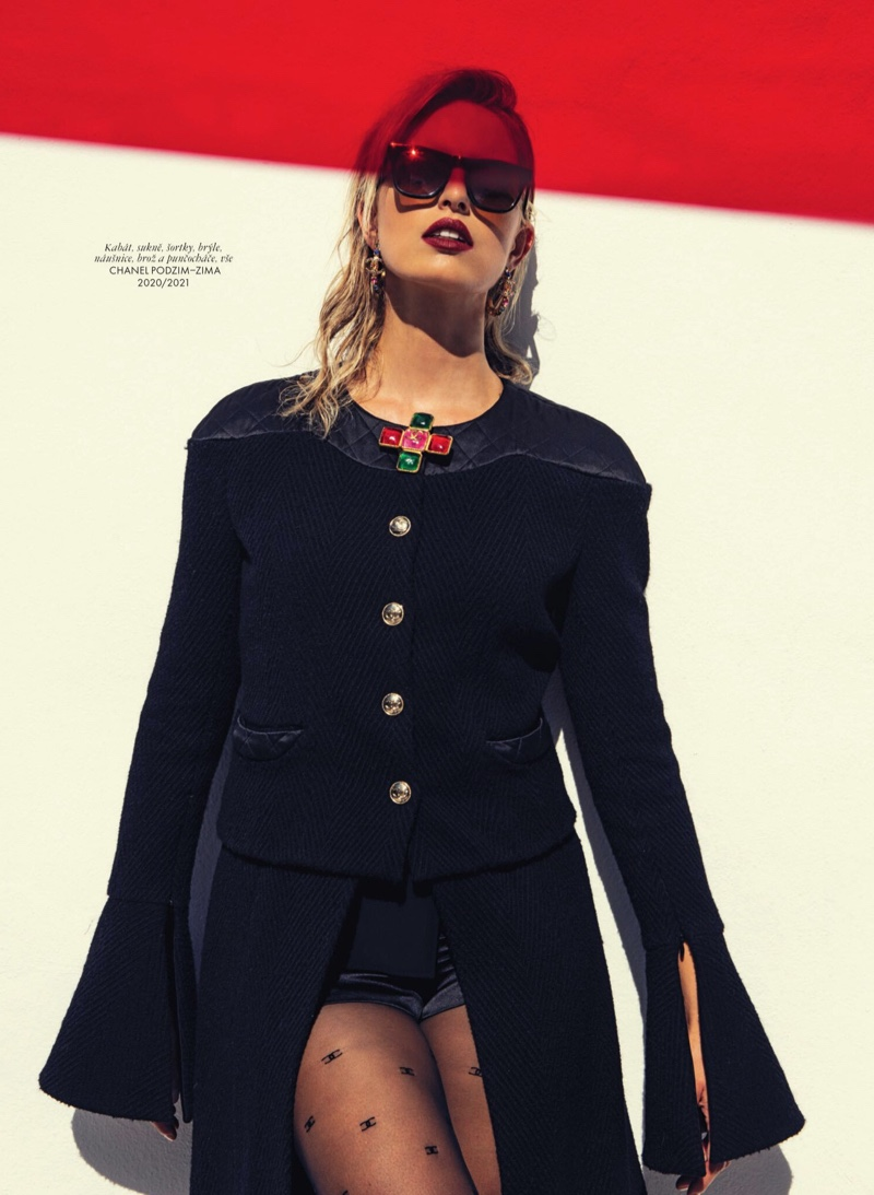 Karolina Kurkova Looks Chic in Chanel for ELLE Czech
