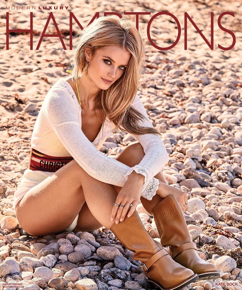 Kate Bock Soaks Up the Sun for Hamptons Magazine