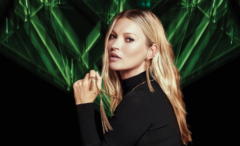 Kate Moss fronts Messika by Kate Moss jewelry campaign.