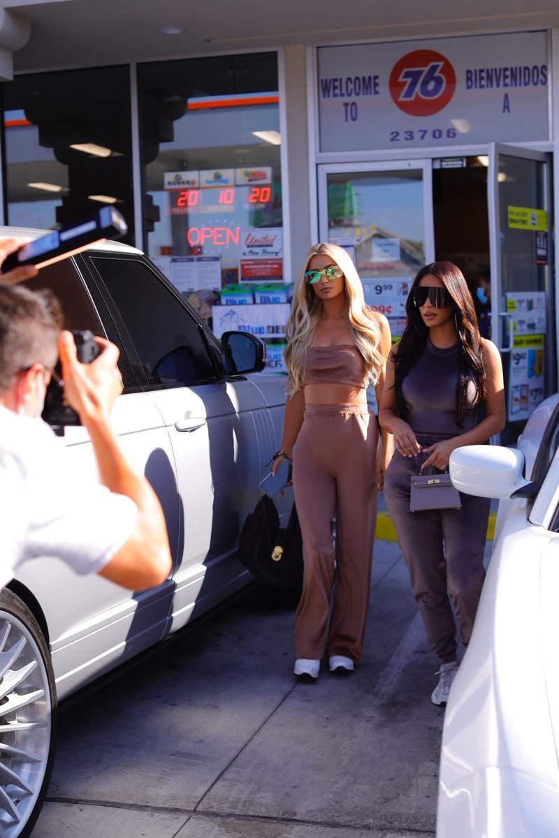 ON SET: Kim Kardashian and Paris Hilton reunite for SKIMS Velour collection.