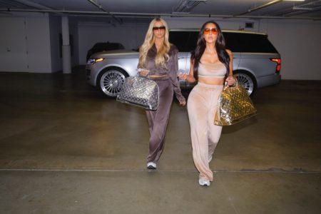 Paris Hilton and Kim Kardashian star in SKIMS Velour campaign.