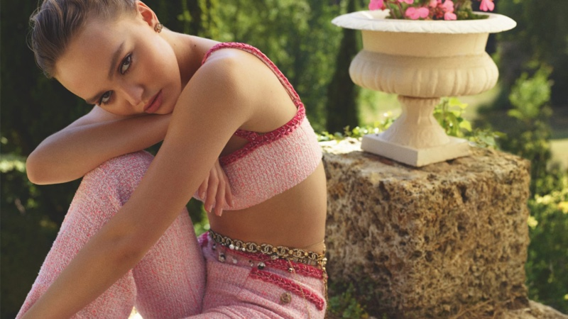 Lily-Rose Depp appears in Chanel cruise 2021 campaign.
