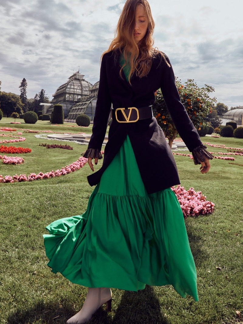 Linda Novotna Models Autumn Looks for Vogue Ukraine