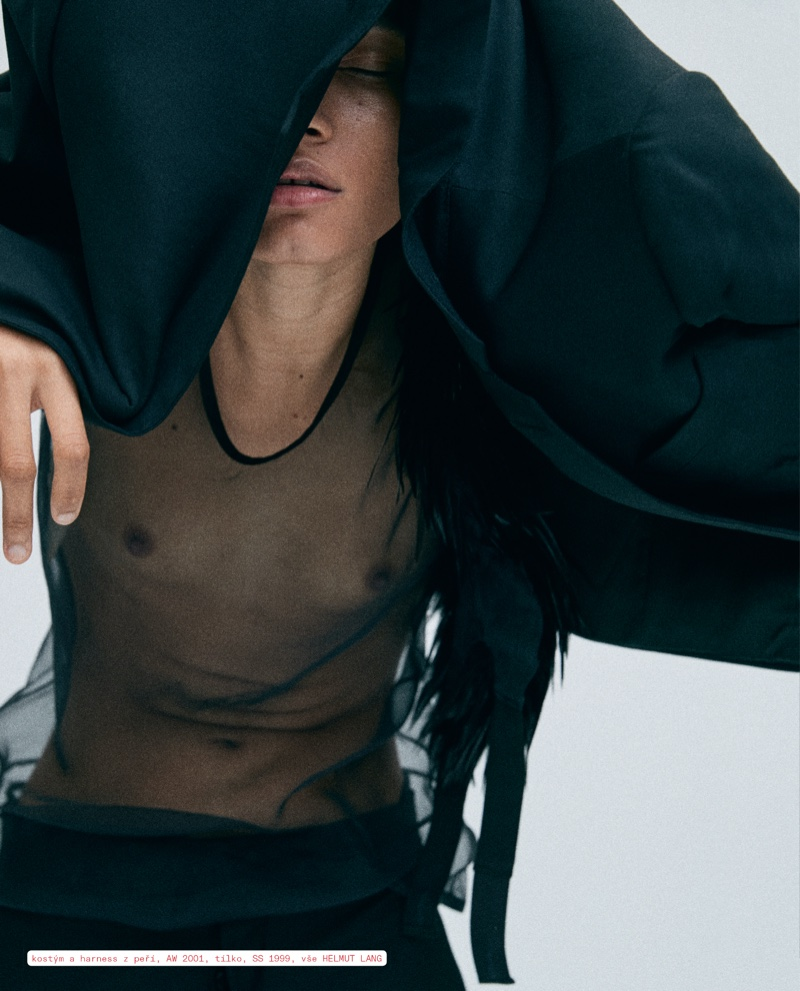 Lineisy Montero Poses in Helmut Lang Archives for Vogue Czech