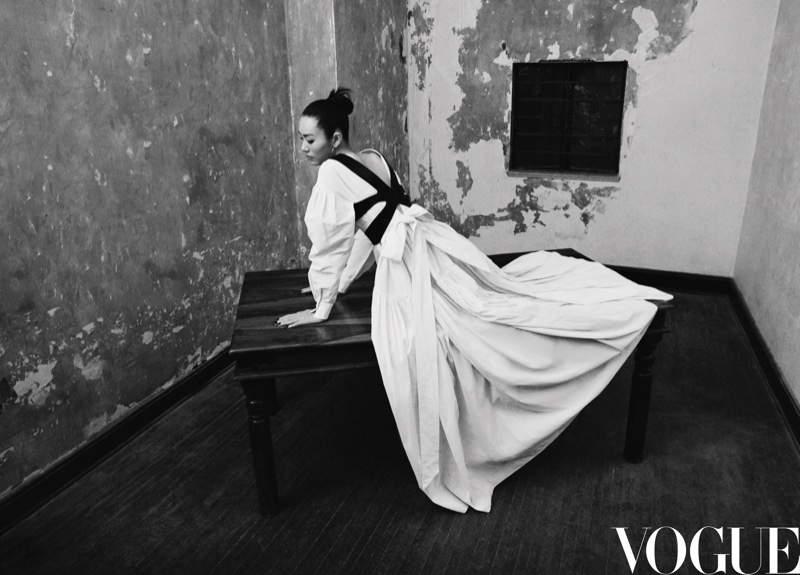 Liu Wen Graces the Pages of Vogue China