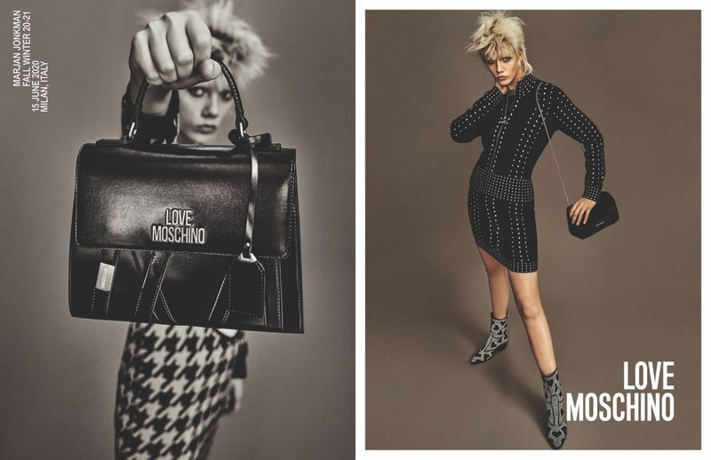 Love Moschino focuses on rock and roll style for fall-winter 2020 campaign.
