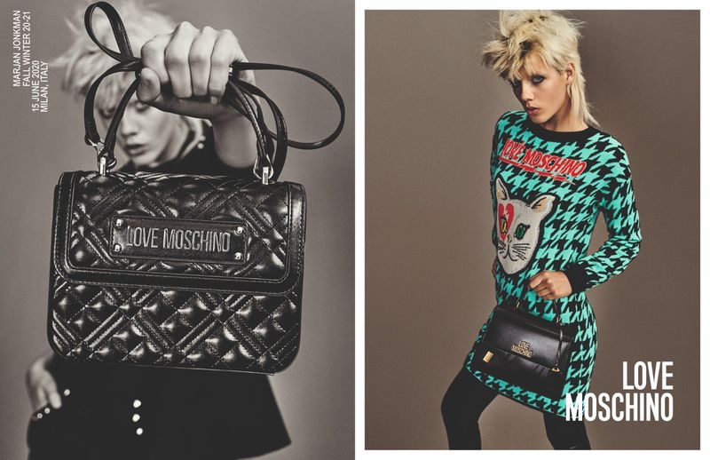 Marjan Jonkman fronts Love Moschino fall-winter 2020 campaign.