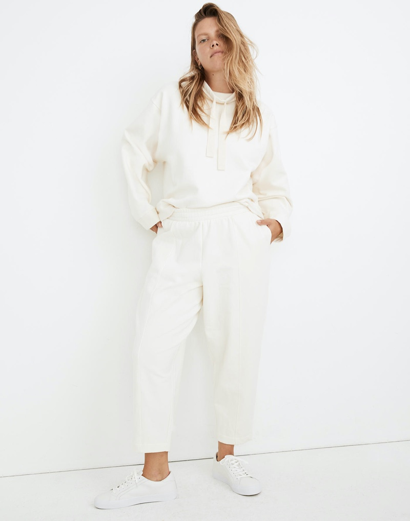 MWL Ribbed Seamed Sweatpants in Antique Cream $79.50
