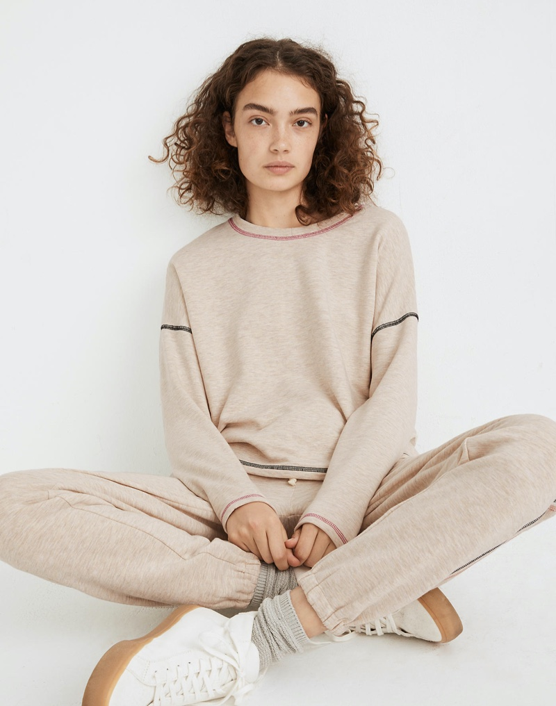 MWL Superbrushed Contrast-Stitched Easygoing Sweatshirt $65