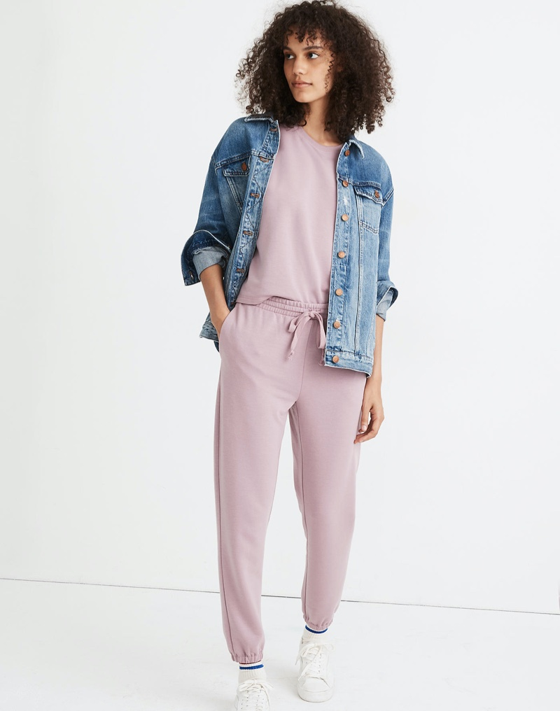 MWL Superbrushed Easygoing Sweatpants in Smoky Lilac $75