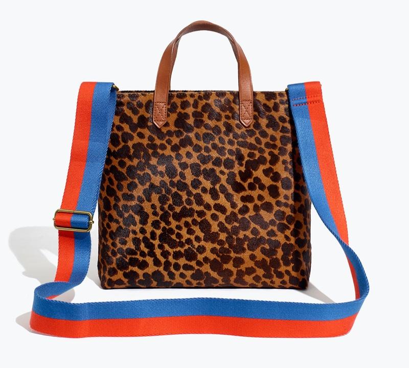 Madewell x Kule Zip-Top Transport Crossbody: Leopard Calf Hair Edition $168