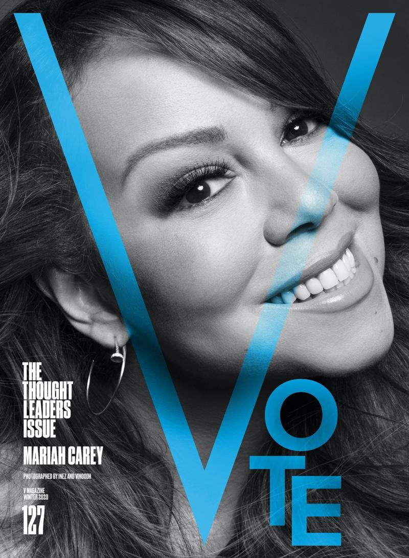 Mariah Carey on V Magazine #127 Cover. Photo: Inez & Vinoodh