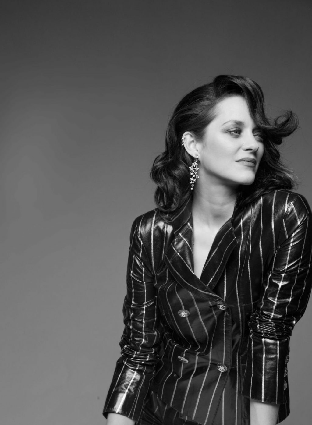 Marion Cotillard poses for Chopard Ice Cube jewelry campaign.