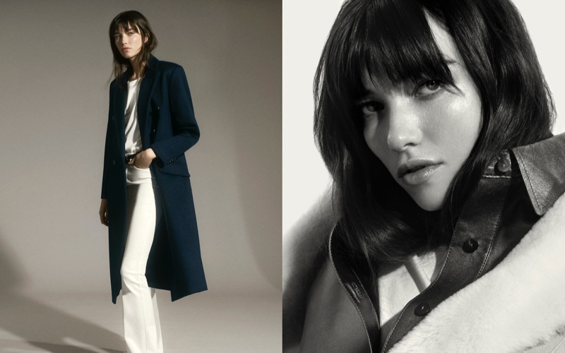 Grace Hartzel layers up in Massimo Dutti fall-winter 2020 outerwear.