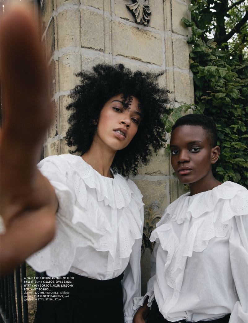 Gode, Adama & Tyvanni Wear Modern Retro Looks for ELLE Hungary