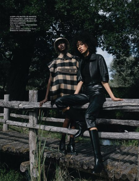 Gode, Adama & Tyvanni Wear Modern Retro Looks for ELLE Hungary