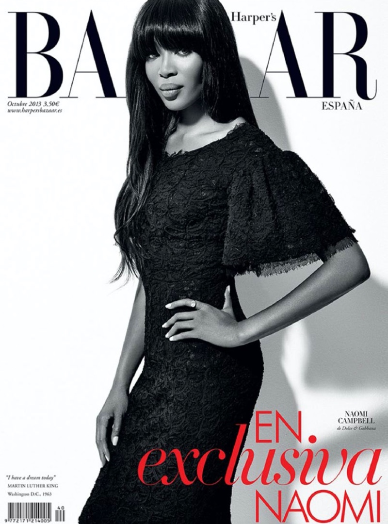 Naomi Campbell photographed by Xevi Muntané for Harper's Bazaar Spain.