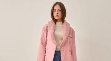 Reformation Lester Coat in Pink $348