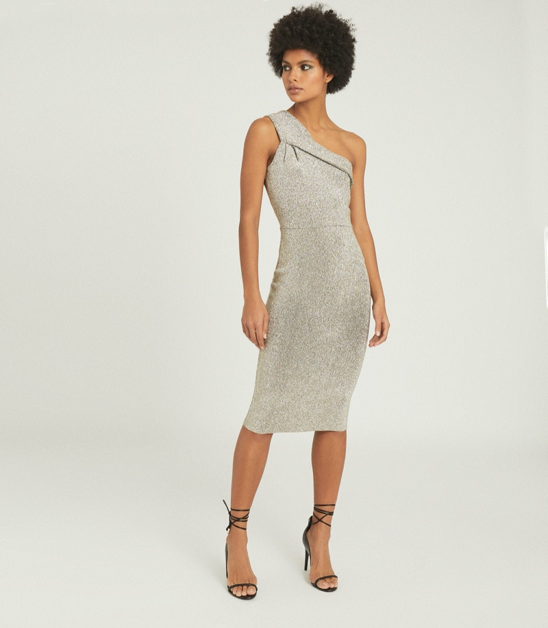 Reiss Lordes Metallic Bodycon Dress $370